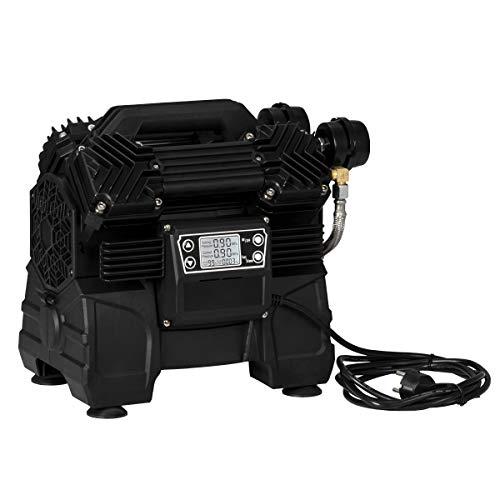 STAHLWERK Brushless Kompressor ST-1215 BL Flüsterkompressor Druckluft mit 1500 W, verschleißfreier bürstenloser 4 Kolben Motor, 10 Bar, 250 L Durchlauf, integriertes Digital Display