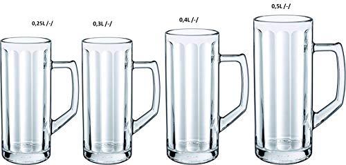 6 Bierseidel Reno Optik in versch. Größen erhältlich - geeicht Größe 0,5L geeicht