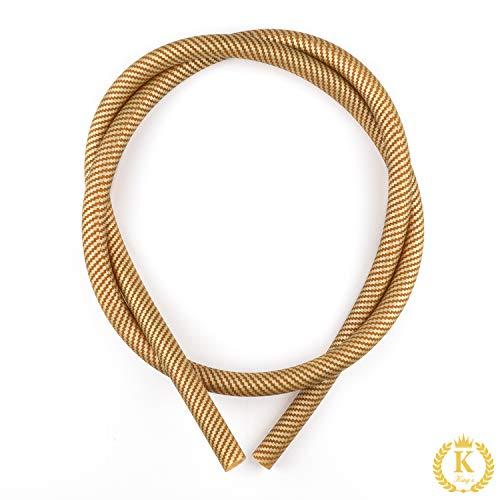 K King´z® Premium Silikonschlauch MATT GOLD für Shisha u. Wasserpfeife Silikon Schlauch Carbon | Hookah Silicone hose | Softtouch | Shisha Schlauch | inclusive gratis eBook!