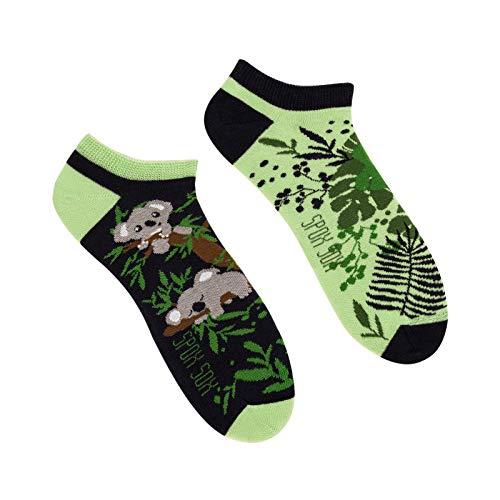 Spox Sox Low Unisex - mehrfarbige, bunte Sneaker Socken für Individualisten, Gr. 40-43, Koala