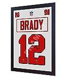 Tom Brady Tampa Bay Buccaneers autographe de la NFL encadré 100 % coton autographe encadré #2