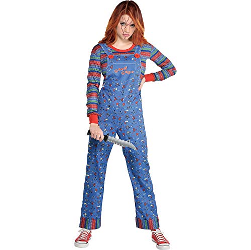 Party City Chucky Halloween Costume for Women, Child's Play, Medium, Includes Jumpsuit