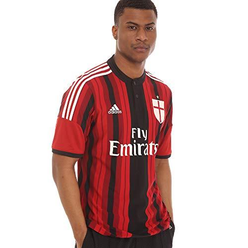 Adidas AC Milan Home - Maglia da uomo, colore: Nero/Victory Red S04/Running rosso L