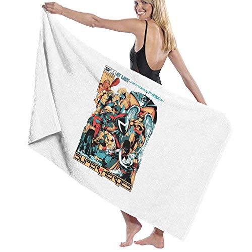 N\ Hanna-Barbera Super Heroes - Toalla de baño de secado rápido