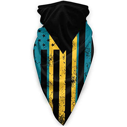 USA Bahamas Mixture Flag Outdoor Half Face Mask Breathable Bandana Neck Gaiter Balaclava for Snowboarding, Ski, Motorcycle