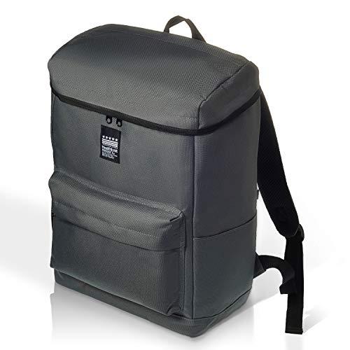 Healthknit Product(ヘルスニット プロダクト) リュック ロゴプリント ビジネスバッグ 大容量 通勤通学 A4 メンズ レディース グレー