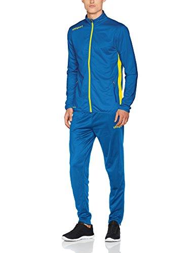 uhlsport Tuta Essential Classic da Uomo, Uomo, Essential Classic Anzug, Azzurro/Giallo Lime