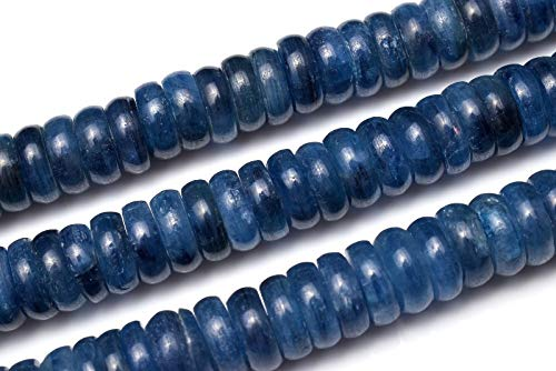【 福縁閣 】カイヤナイト ボタン 8.5x2.5mm 1連(約38cm)_R5604 天然石 パワーストーン ビーズ