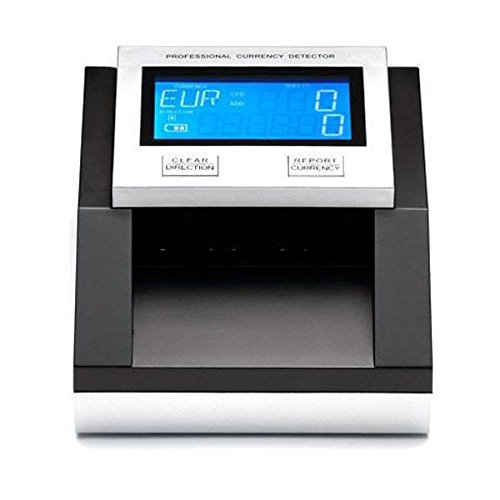 YATEK Detector Billetes Falsos EUR,GBP, SEK, con batería, Cuenta Billetes y Suma el importe Total de los mismos, actualizable, admite nuevos Billetes SE-0350B