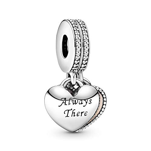 Pandora Jewelry Always There Heart Dangle Cubic Zirconia Charm in Sterling Silver