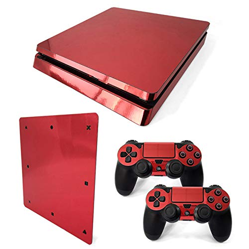 Mcbazel Pattern Series Vinyl Skin Sticker For PS4 Slim Controller & Console Protect Cover Decal Skin (Red Glossy)