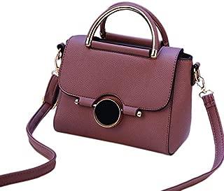 TOOGOO Women Pu Leather Handbag Flap Bags Crossbody Shoulder Messenger Bag Female Top-Handle Women Fashion Small Bags Female Satchel Purple