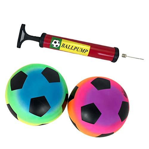 NUOBESTY 2 Pcs 2 Pcs Aire de Jeux Ballons de Football Arc-en