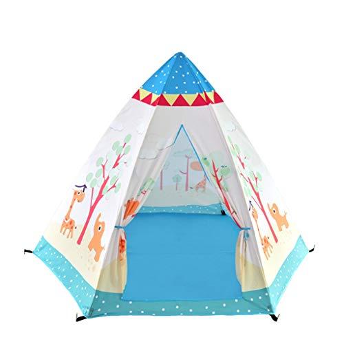 CSQ Hexagonal Kinderspielzelt, Indian-Spiel-Zelt Hof Teepee Kinderleseecke mit Cartoon-Tiermuster Spielhaus für Kinder (Size : 88 * 88 * 123CM)