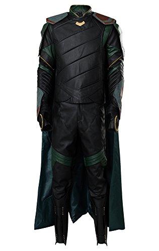 Thor 3 Ragnarok Loki Outfit Traje de Cosplay Disfraz Hombres XXXL