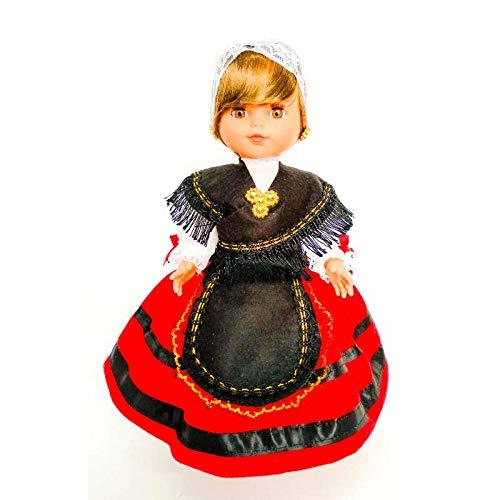 Folk Artesanía Muñeca Regional colección de 35 cm Vestido típico Asturiana Asturias España, Nueva y Original.