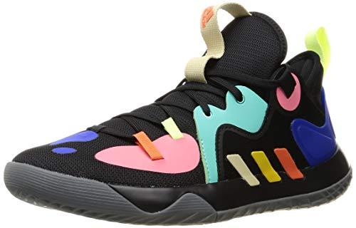 adidas Harden Stepback 2, Zapatillas de Baloncesto Unisex Adulto, NEGBÁS/AMARIL/MENACI, 44 EU