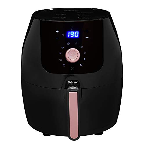 Balzano Digital Air Fryer (Extra Large 5.5L), uses up to 95% Less Fat, 1700W, with Rapid Heat...