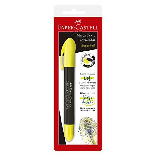 Caneta Marca Texto Gel, Faber-Castell, SuperSoft, SM/1557, Amarelo