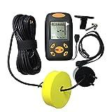 Pasado de mano Finder Portable Pescado Detección Sonar Sensor Buscador Transductor bajo el agua Accesorio de pesca para Pesca al aire libre Negro