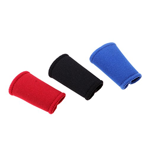 Unbekannt 3er Set Dehnbar Fingerbandage Fingerverband Fingerschutz Fingerhülle Basketball Volleyball Bandage - 40mm fit Kleiner Finger