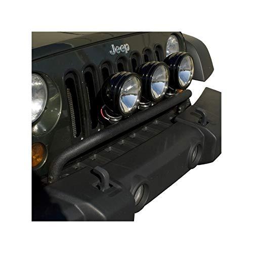 Support Phare Longue Porté Avant Noir Jeep Wrangler Jk