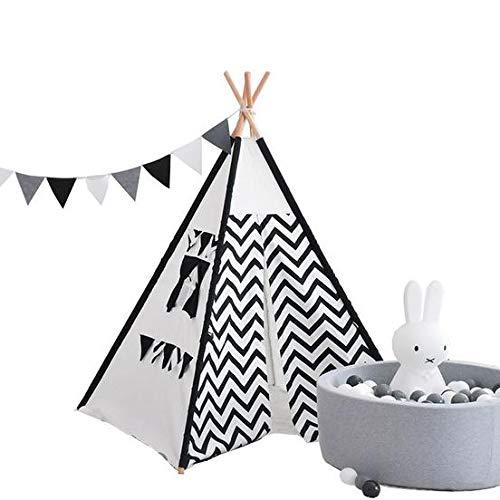 LJW speelgoed kindertent katoenen doek piramide vorm interactieve speelgoed baby (0-2 jaar oud)