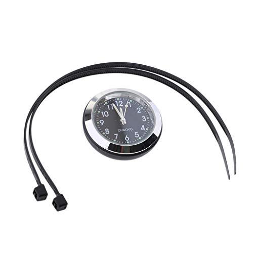 Sharplace Hochwertige Motoraduhr Fahrrad Lenker Uhr, einfach instaliert - schwarz