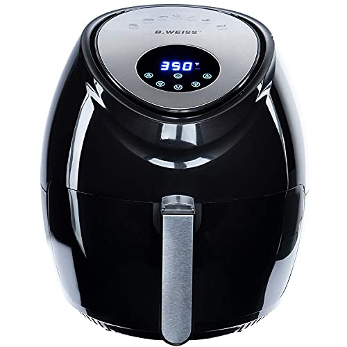 ★ 80% Less Fat Air Fryer Is The Healthiest Alternative To Deep Frying As It Only Requires A Tablespoon Of Oil Or Less! This Means, You Will Consume 80% Less Fat While Still Enjoying All Your Favorite Fried, Grilled, Baked And Roasted Foods! The Cookb...