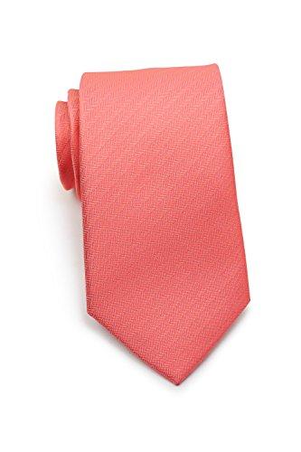 Blackbird rote Krawatte mit Herringbone-Struktur, Mikrofaser Krawatte in 8,5cm breite
