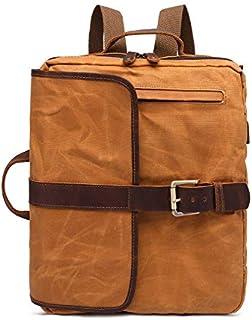 YOUNKING New Men's Shoulder Bag Retro Men's Bag Canvas Computer Bag College Students'Bookbag Canvas Backpack