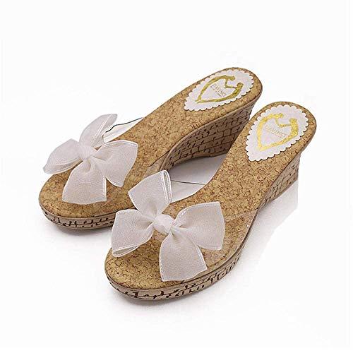 LIUCHANG Sandalias de ducha antideslizantes Piscina, Playa impermeable l sandalias, dulce princesa sandalias y zapatillas blancas-36, House mule espumas suaves liuchang20