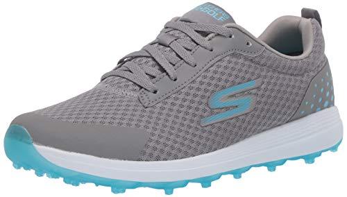 Skechers Women's Max Golf Shoe, Mesh Gray/Blue, 9.5 M US