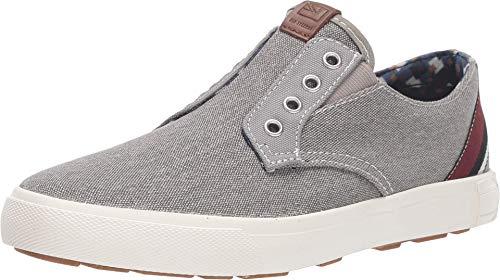 Ben Sherman Chaussures de sport sans lacets pour homme, (Toile/gris), 39.5 EU