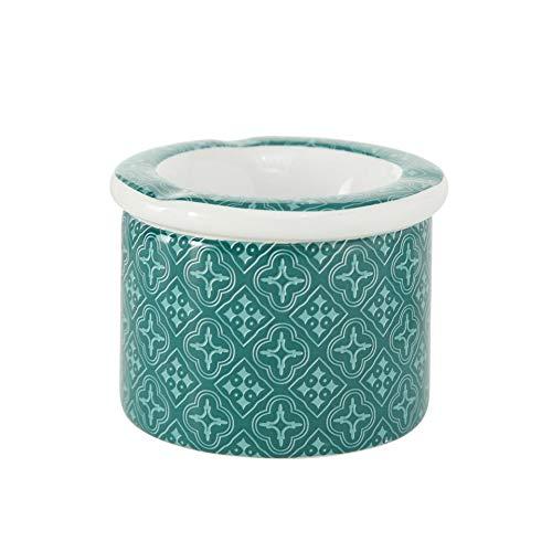 Imagen del producto Home Collection Hogar Jardín Terraza Decoración Accesorios Fumadores Juego de 2 Ceniceros de Viento con Tapa Blanco Verde Azul Agua