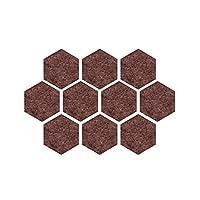 フェルトボード-ZhangGe 六角カラー無しフェージング掲示板フォトウォールは、理事会の幼稚園デコレーションウォールステッカーは、10個のフェルト、ボードフェルト ,多機能掲示板/メモボード (Color : Brown)