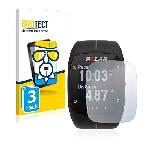 BROTECT Protector Pantalla Compatible con Polar M400 / M430 Cristal Templado (3 Unidades) Dureza 9H