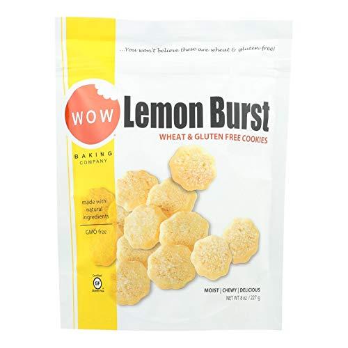 Wow Baking Company Lemon Burst Cookies, 8 Ounce Bag - 12 per case.