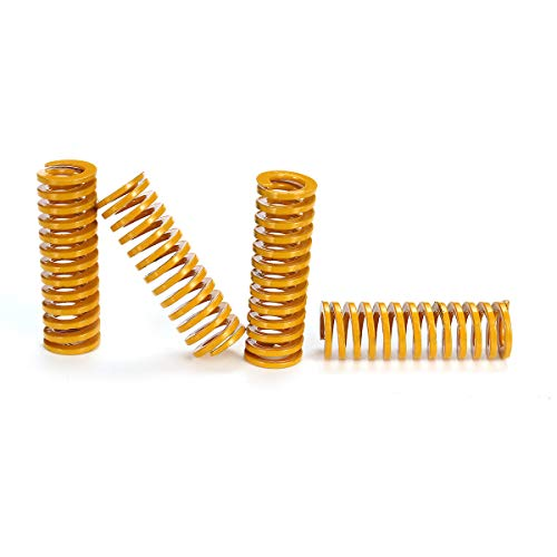 LICHONGUI 8pcs Ultimate Upgraded Yellow Flat Bed Leveling Spring Extruder Spring for 3D Printer