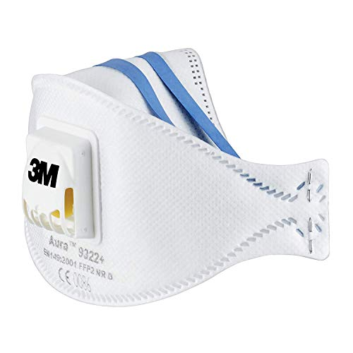 3M 9322+ Flat Fold Particulate Respirator - White (2-Piece) by 3M