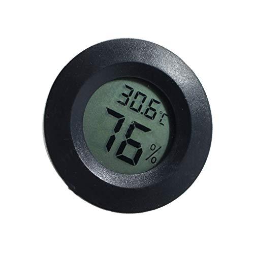 wufeng Mini Práctica Cubierta Digital Ronda termómetro higrómetro Temperatura Humedad Medidor Pantalla LCD