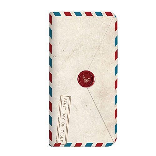 mitas iPhoneSE 第2世代 ケース 手帳型 ベルトなし 手紙 封筒 切手 A (249) NB-0231-A/iPhoneSE_2020