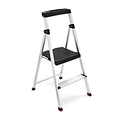 Rubbermaid RMA-2 2-Step Lightweight Aluminum Step Stool with Project Top