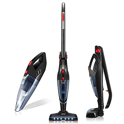 Deik Vacuum Cleaner, 2 in 1 Cordless Vacuum Cleaner, Lightweight Stick and Handheld Vacuum, High-power Rechargeable Bagless Vacuum with Upright Charging Base