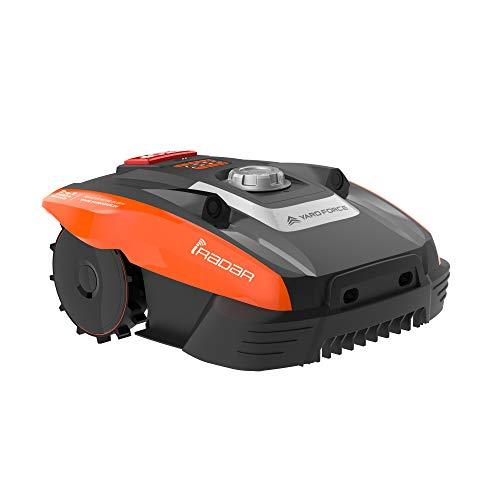 Robot cortacésped Yard Force Compact 400Ri hasta 400 m². Robot cortacésped con conexión WiFi, control por aplicación, sensor ultrasónico iRadar, función de corte de bordes y motor sin escobillas