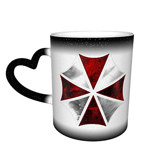 Resident Umbrella Evil Corp Symbol Mug Color Changing Mug In The Sky Gifts For Him/ Her Ceramic Heat Sensitive Color Changing Cup