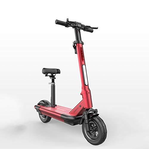 SOAR Patinetes para Niños Scooter eléctrico por Edad, Estructura de Ciudad del Viajero con el Peso Ligero Plegable de pesaje de vehículos sobre 22kg (Color : Red)