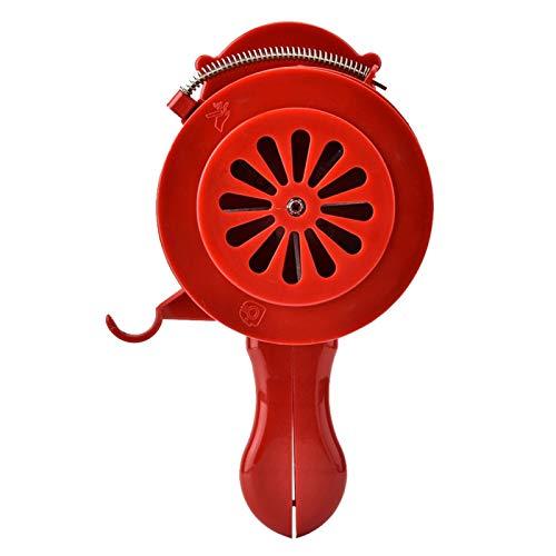 Cuifati Alarma de manivela, Alarma de Mano de Carcasa de plástico, Alarma de Ataque aéreo operada manualmente, para Estaciones de Servicio, aeropuertos, Granjas forestales, hoteles