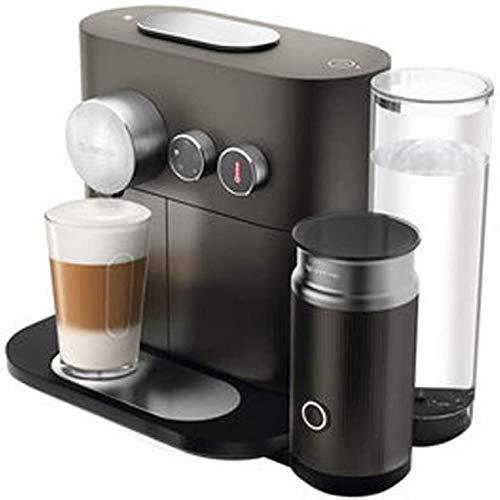 YQGOO Máquina de café de cápsulas para el hogar Inteligente con máquina de Espuma de Leche Sistema antigoteo de Prueba de cápsulas, Filtro Reutilizable Permanente Negro