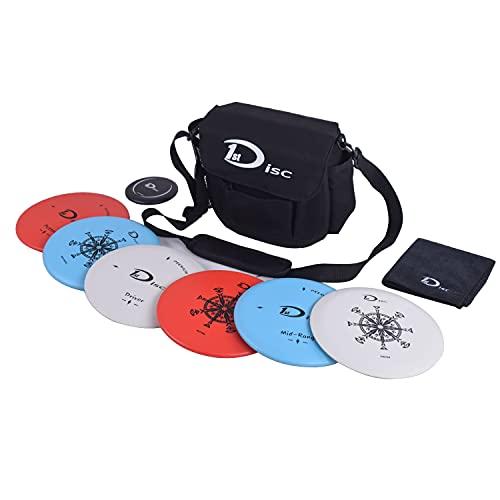 Disc Golf Starter Set-2 PCS Putter, 2 PCS Mid-Range, 2 PCS Driver, 1 Mini disc,1 Towel with Bag
